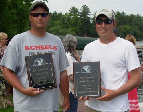 Pat Schlapper Mike McEvoy 1st place Chetek Chain Bass Tournament