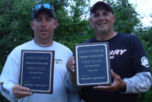 Brad Leuthner Tony Groskreutz 6-6-12 Wednesday Night Bassin