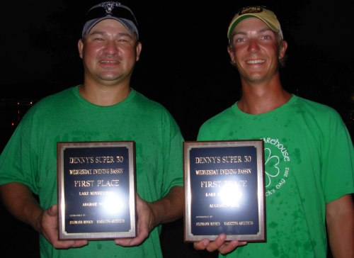 Seth Feider Mike Hoese 1st place 8-29-2012 wednesday night bass tournament